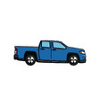 pickup truck vehicle transport shipping vector image vector image