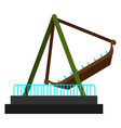pirate ship ride vector image vector image