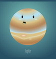 planet jupiter in background space cute vector image vector image