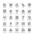 project management line icons set 11 vector image vector image