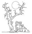 ruin castle vector image vector image
