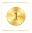 seal award gold icon blank medal isolated on vector image
