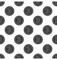 seamless pattern from bitcoin coin vector image vector image