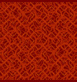 Seamless pattern with abstract irregular wavy red