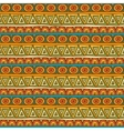 Seamless red orange and green color ornament from vector image vector image