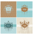 set retro cards with photo frame vector image vector image