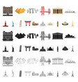 sights of different countries cartoon icons in set vector image vector image