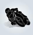 Silhouette of biker vector image vector image