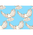 Sketch dove of peace in vintage style vector image vector image