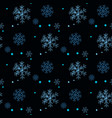 snowflakes decorated with circles and dots blue vector image