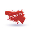 special offer isolated trendy geometric label vector image