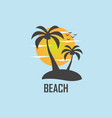 summer beach image vector image vector image
