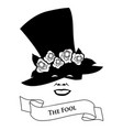 tarot card concept the fool joker hat with flower vector image