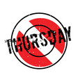 thursday rubber stamp vector image vector image