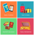 travel planning preparation vector image vector image