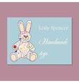 Vintage business card for handmade toys maker vector image vector image