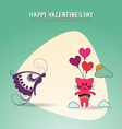with love and butterfly vector image vector image