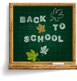 school blackboard with expression back to school vector image