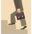 man with briefcase walking upstairs vector image