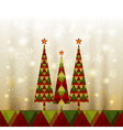 Sparkling Christmas Tree vector image