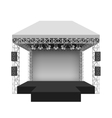 Podium concert stage vector image