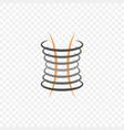 abstract car shock absorber logo vector image
