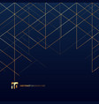 abstract dimension lines gold color on dark blue vector image vector image