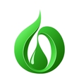 Abstract green drop vector image vector image