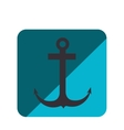 anchor silhouette isolated icon vector image vector image