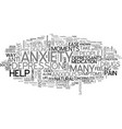 anxiety panic attacks text word cloud concept vector image vector image