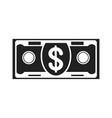 banknote black icon vector image vector image