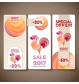 banner sale set for new year rooster vector image