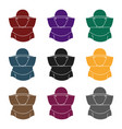 beekeeper icon in black style isolated on white vector image vector image