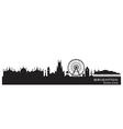 Brighton England skyline Detailed silhouette vector image vector image