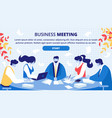 business partners office meeting website vector image