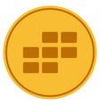 calendar grid gold coin vector image vector image