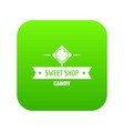 candy shop icon green vector image vector image