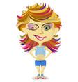 cartoon girl teenager vector image vector image