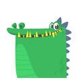 cartoon silly crocodile smiling vector image vector image