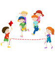 Children playing piggy back ride race vector image vector image