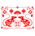 chinese zodiac rat new year 2020 celebration vector image