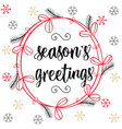 Christmas calligraphy Season s Greetings Hand vector image