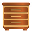 Classic nightstand icon cartoon style