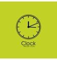 clock isolated icon design vector image vector image