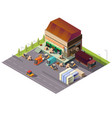 commercial warehouse building isometric vector image vector image