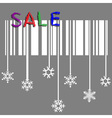 Creative winter sale with stylized snowflake and vector image vector image