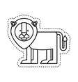 cute lion character icon vector image vector image