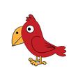 cute standing bird vector image vector image