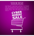 Cyber Monday Sale Shopping cart flat icon over vector image vector image