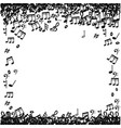 doodle music notes pattern background abstract vector image vector image